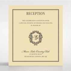 Damask Love reception enclosure card