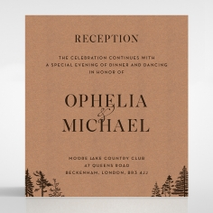 Delightful Forest Romance reception enclosure stationery invite card