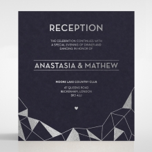 Digital Love reception enclosure invite card design