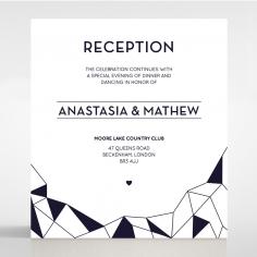 Digital Love reception enclosure stationery invite card