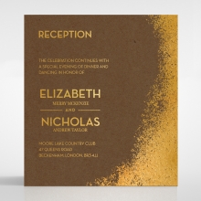 Dusted Glamour reception enclosure invite card