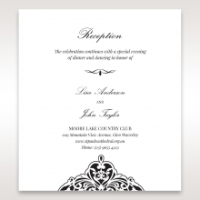 Elegance Encapsulated Laser cut Black reception stationery card