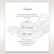 Elegant Black Laser Cut Sleeve reception invite card