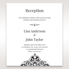 Elegant Crystal Black Lasercut Pocket wedding reception card