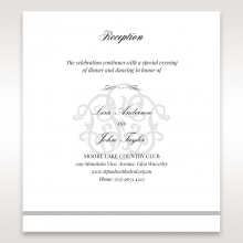 Elegant Seal reception invitation card design