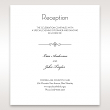 Embossed Date reception invitation card