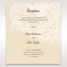 Embossed Floral Pocket wedding stationery reception enclosure invite card