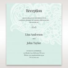 Embossed Gatefold Flowers wedding stationery reception invite card design