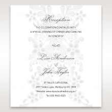 Enchanting Ivory Laser Cut Floral Wrap reception enclosure invite card design