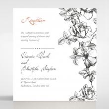 English Rose wedding reception invite card