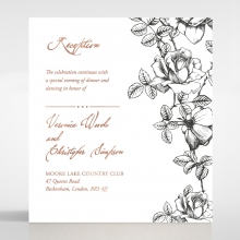 English Rose wedding reception invite card design