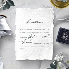 Everlasting Devotion wedding stationery reception invitation card design