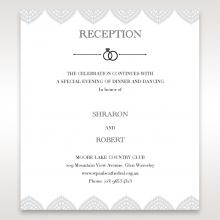 Everly reception stationery invite card design