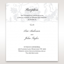 Exquisite Floral Pocket wedding stationery reception invitation card