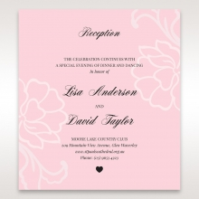 Exquisitely Embossed Floral Pocket wedding stationery reception invite card