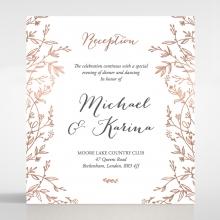Fleur wedding stationery reception enclosure invite card