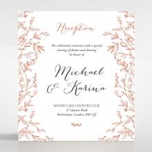 Fleur wedding stationery reception enclosure card design