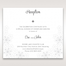 Floral Cluster reception wedding invite card design