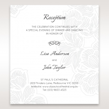 Floral Laser Cut Elegance Black reception invitation card