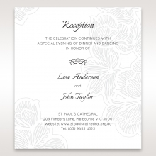 Floral Laser Cut Elegance reception wedding card design