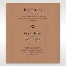 Floral Laser Cut Rustic Gem reception invitation card