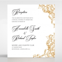 Flourishing Garden Frame reception invitation card
