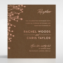 Flourishing Romance wedding reception card