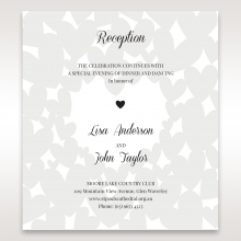 Fluttering Hearts  wedding stationery reception enclosure card