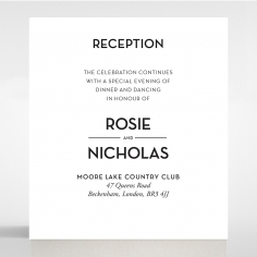 Frosted Chic Charm Paper reception wedding invite card design
