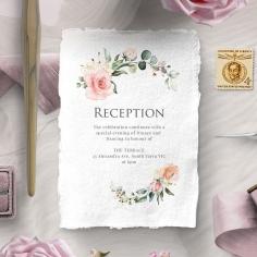 Garden Party reception enclosure invite card