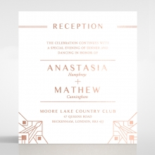 Gatsby Glamour reception invitation card design