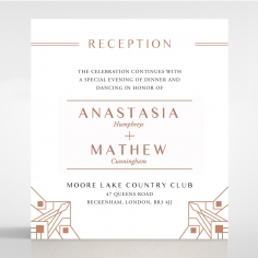 Gatsby Glamour wedding reception card