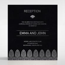 Gilded Decadence wedding reception card