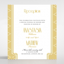Gilded Glamour wedding stationery reception enclosure invite card