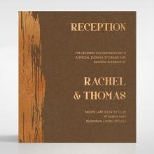 Gilded Stroke wedding stationery reception invite card