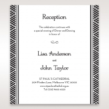 Glitzy Gatsby Foil Stamped Patterns in Gold wedding stationery reception invitation card