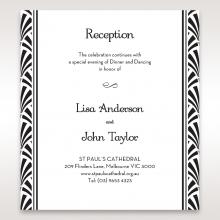 Glitzy Gatsby Foil Stamped Patterns wedding stationery reception invitation
