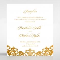 Golden Baroque Pocket with Foil reception wedding invite card