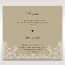 Golden Beauty wedding stationery reception invite