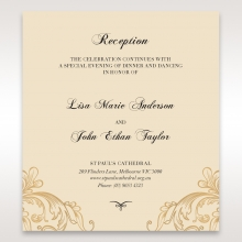 Golden Charisma wedding reception enclosure invite card