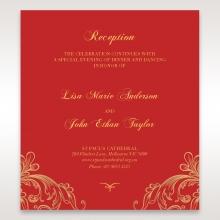 Golden Charisma wedding reception enclosure invite card design