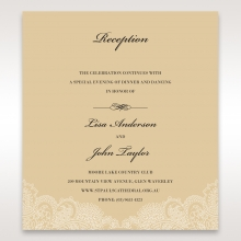 Golden Classic reception stationery