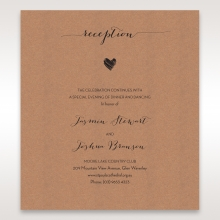 Golden Country Lace With Twine reception stationery invite