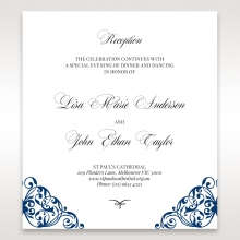 Graceful Ivory Pocket wedding stationery reception card design