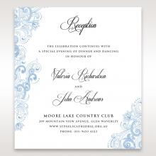 Graceful Wreath Pocket wedding reception card design