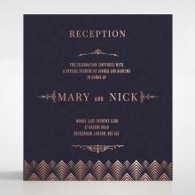 Gradient Glamour reception enclosure stationery invite card design