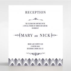 Gradient Glamour wedding stationery reception enclosure card