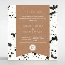 Graffiti wedding stationery reception enclosure card