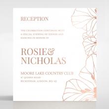 Grand Flora reception invitation card design