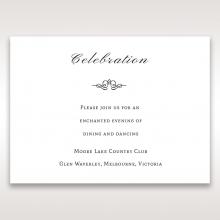 Heavenly Bouquet reception invitation